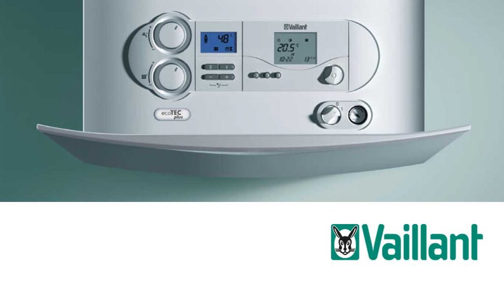 New boiler Plymouth - Vaillant logo and boiler